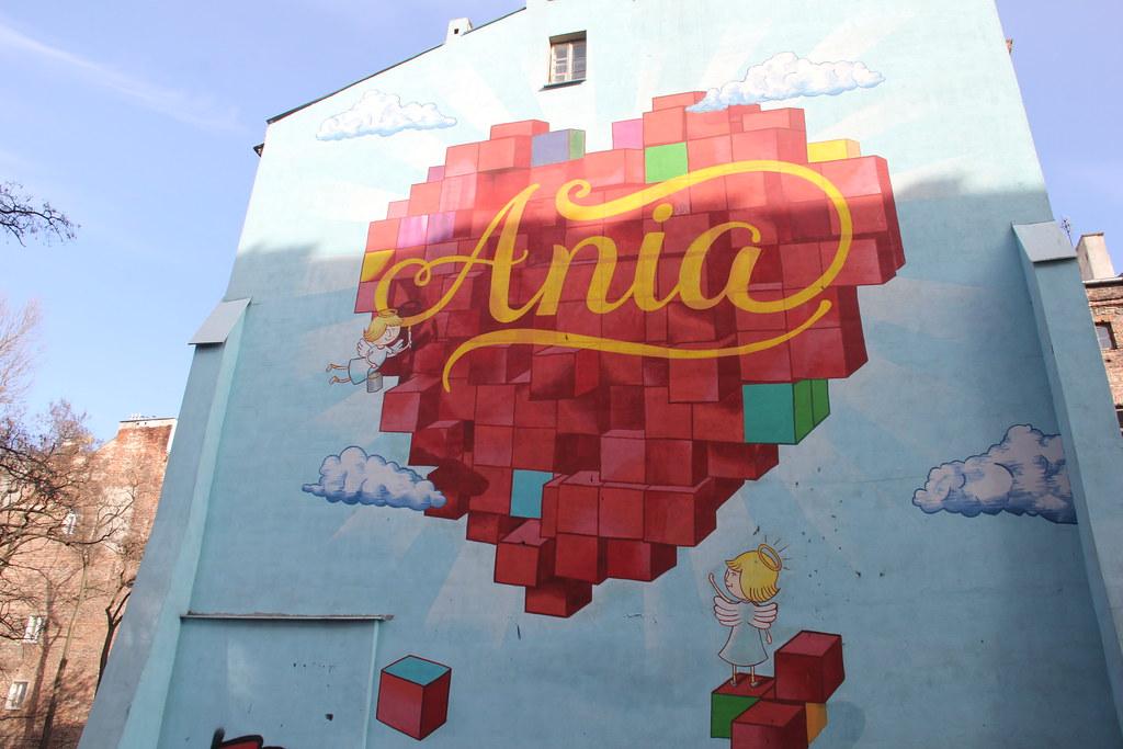 Ania mural, street art, Warsaw