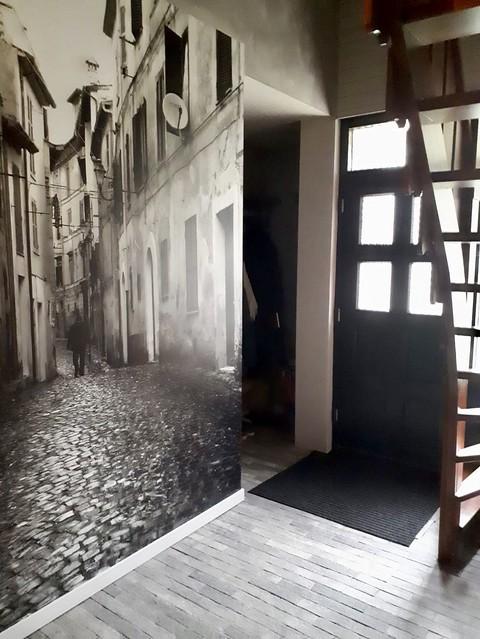 Waaltjes hal zwartwit foto muur