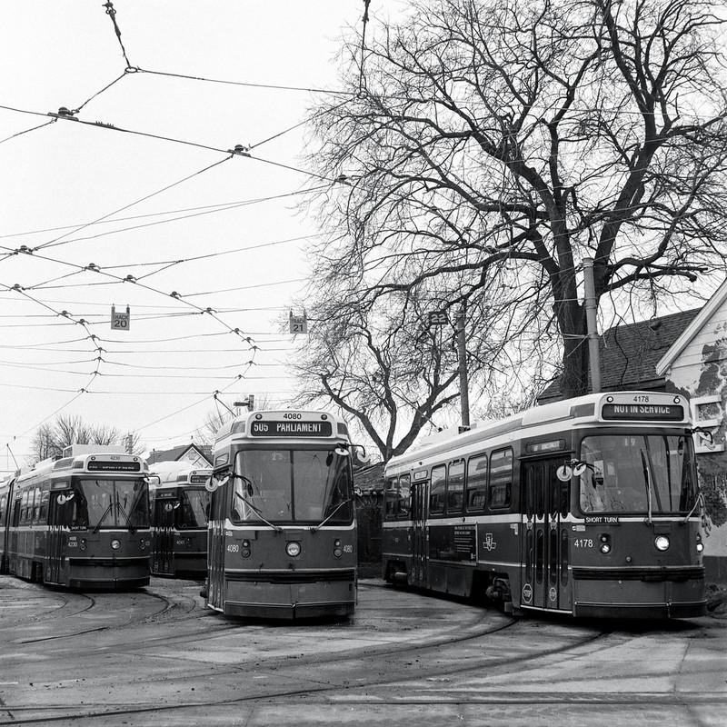 Old Streetcars at Greenwood