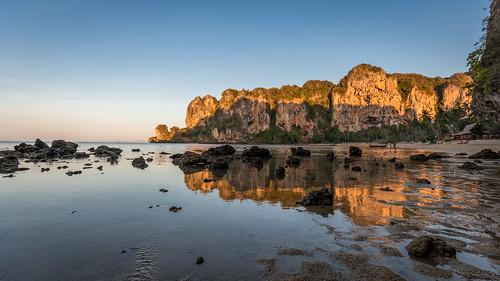 Tonsai beach low tide reflections