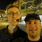 Me and Jackson Slater in Kingsport on Christmas Eve