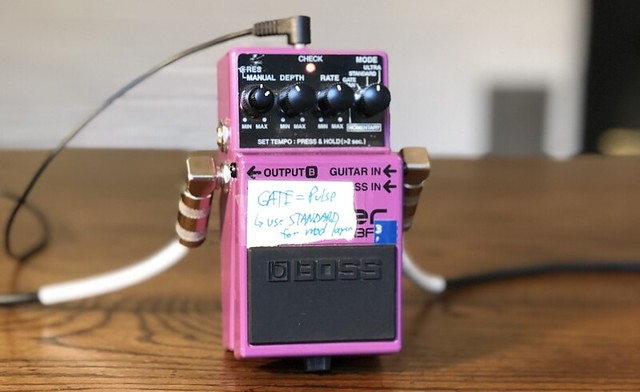Photo:Old Boss BF-3 Flanger Guitar Pedal By GuitarChalk