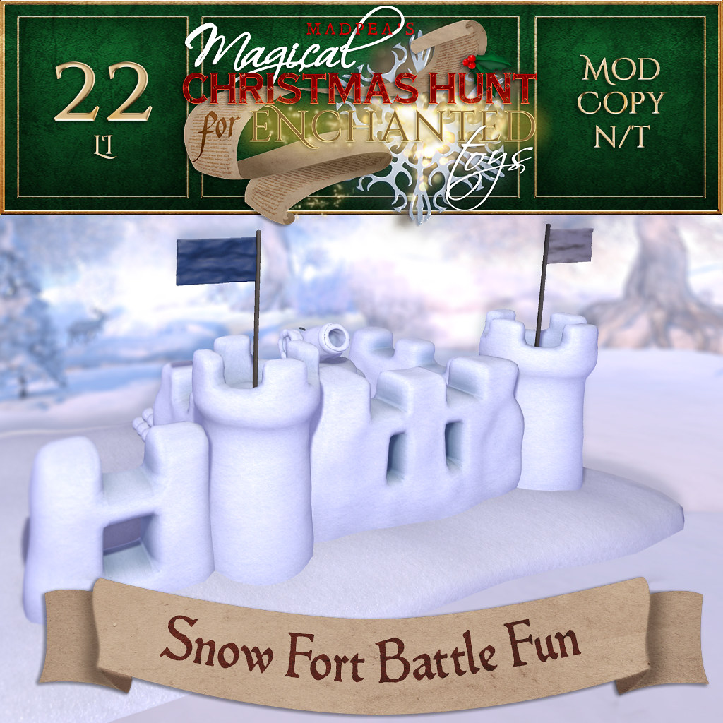 Snow Fort Battle Fun MadPea Christmas Hunt Prize