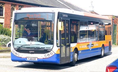YJ10 EZC 'Centrebus' No. 777, 'THE GRANTHAM INTO it TOWN BUS SERVICE'. Optare Tempo X1130 /1 on Dennis Basford's railsroadsrunways.blogspot.co.uk'