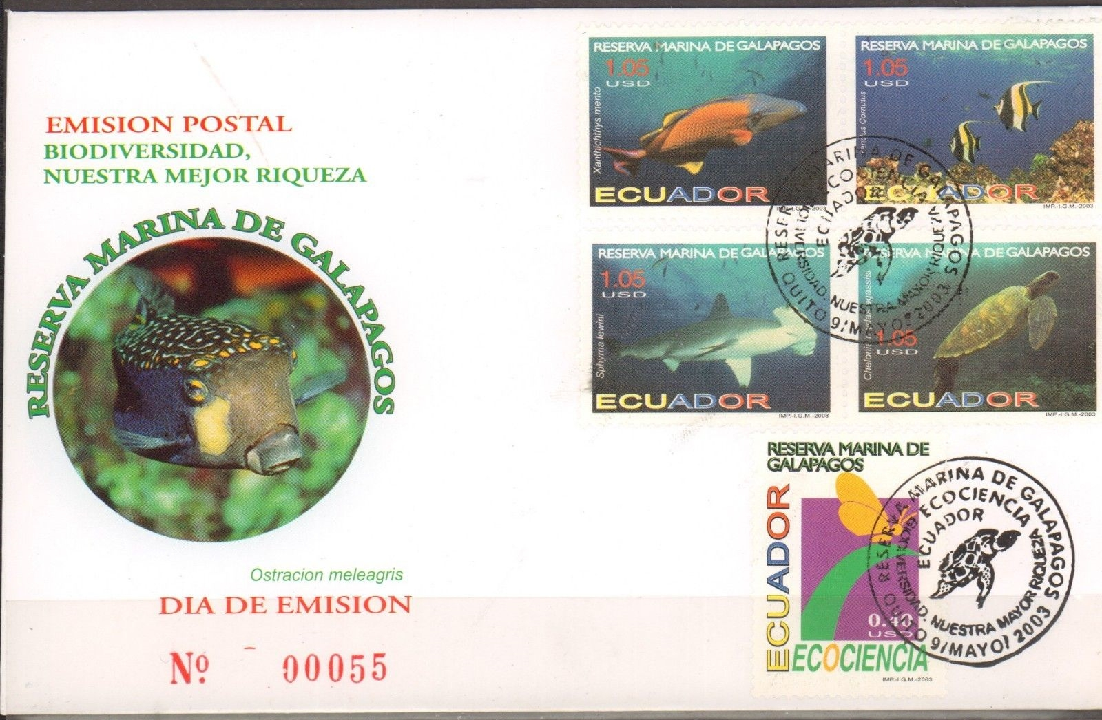 Ecuador - Scott #1670-1672 (2003) first day cover