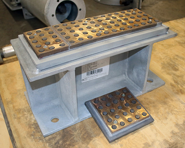 Structural and Bronzphite® Slide Plate Assembly for an Exhaust Duct at a Fossil-Fired Power Plant