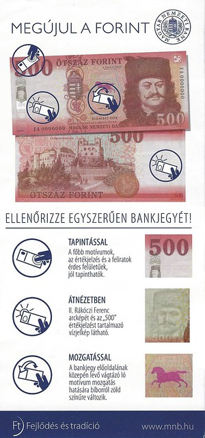 Hungarian banknote flyer back
