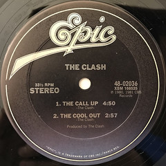 THE CLASH:THE CALL UP(LABEL SIDE-A)