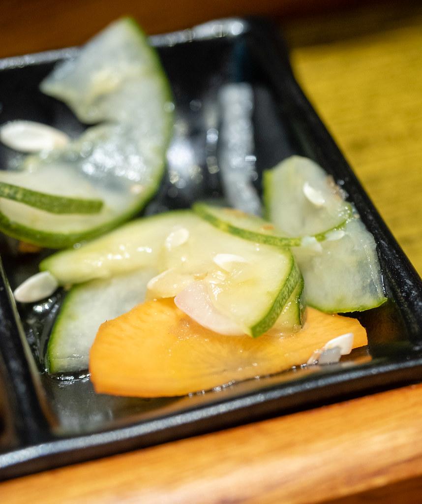 (小猪猪) Jaya One's side dish of pickled cucumbers and carrots