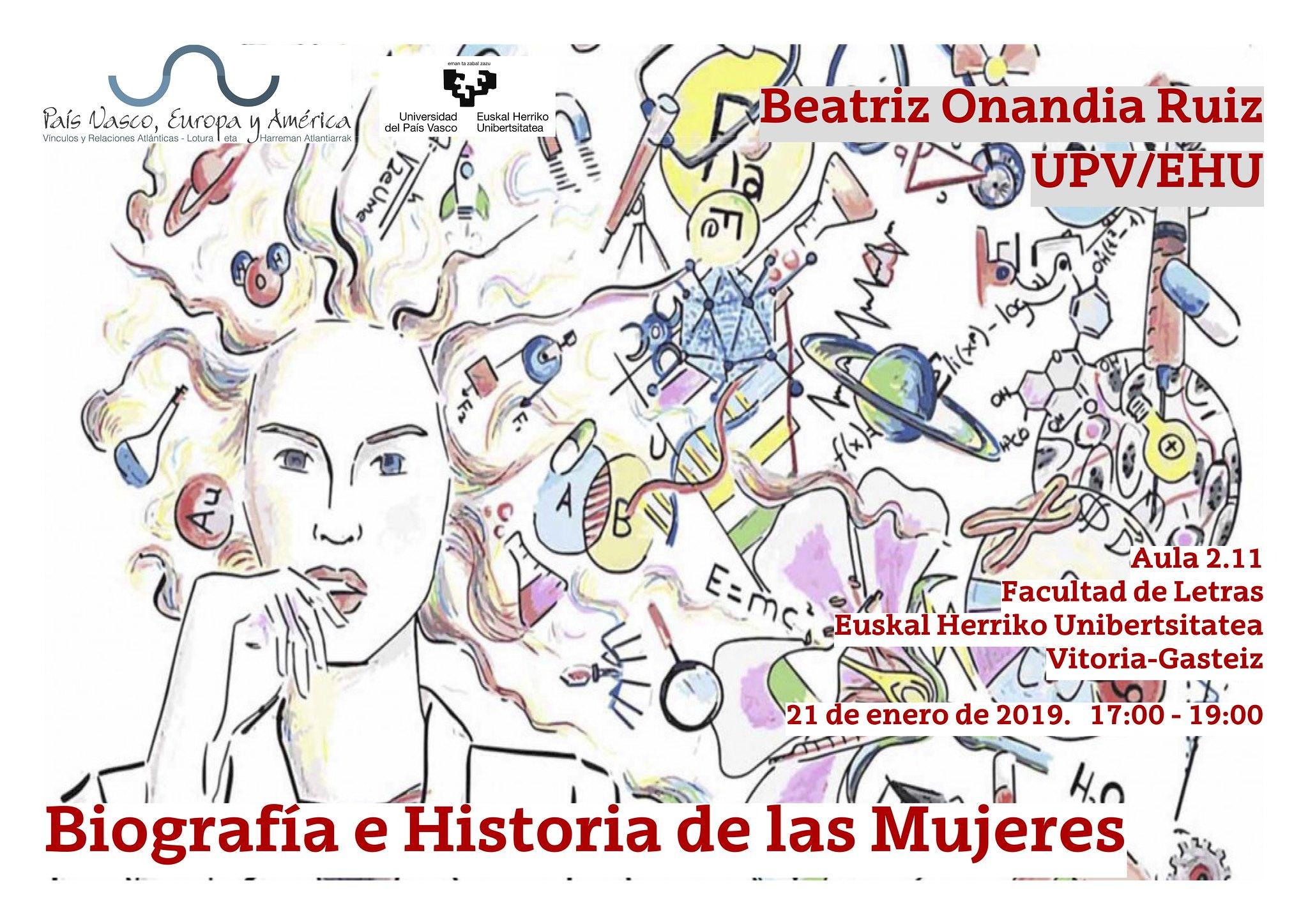 Cartel biografía e Historia de las mujeres