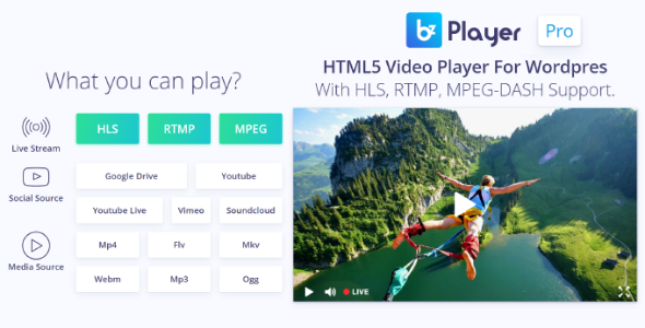 bzplayer Pro v1.8 - Live Streaming Player WordPress Plugin