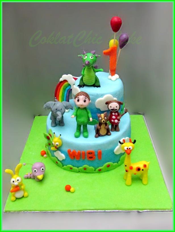 Cake Baby TV WIBI 15 cm dan 10 cm