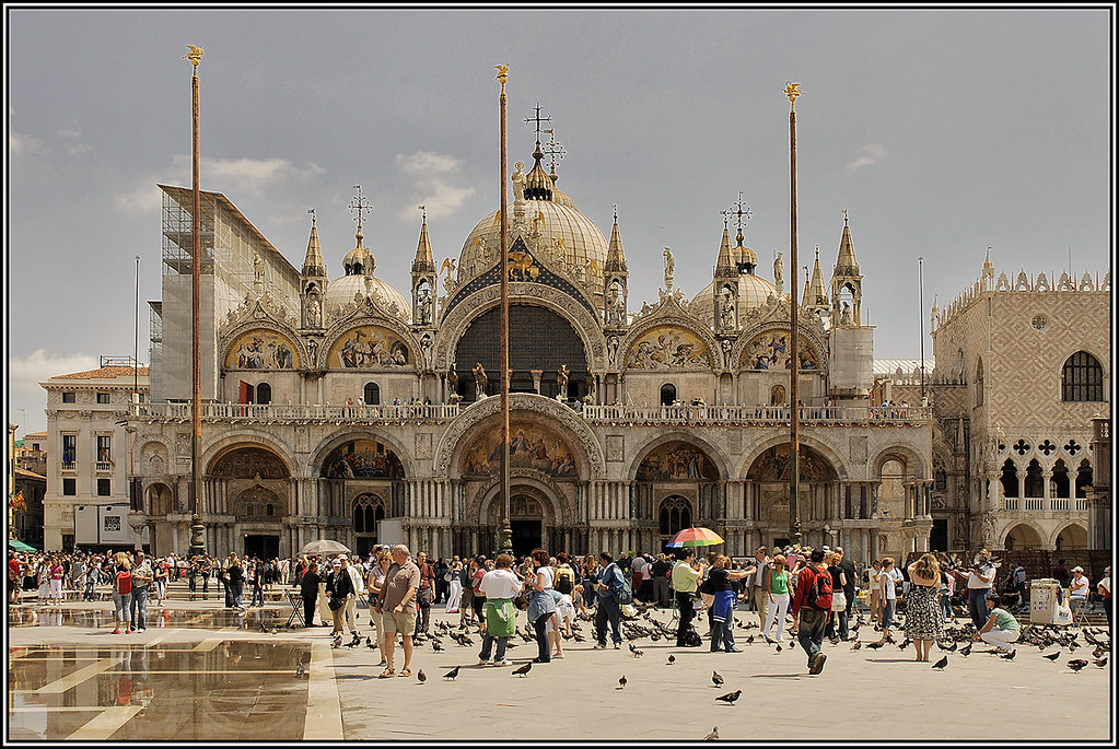 West facade of St Mark's basilica