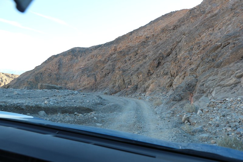 Driving out through Cottonwood Canyon for a new day exploring Death Valley National Park