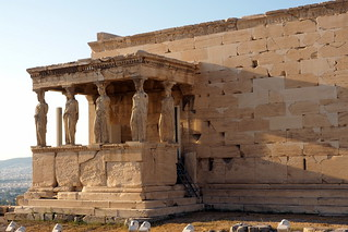 The Caryathid porch of the Erechteion on the Acropolis hill