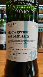 SMWS 85.51 - Elbow grease and bath salts