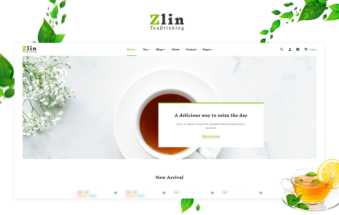 Leo Zlin - Tea Shop Prestashop Theme
