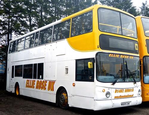 W669 CWX  'Ellie Rose Travel Ltd.', 'Ellie Rose UK'. Volvo B7TL / Alexander ALX 400 on Dennis Basford's railsroadsrunways.blogspot.co.uk'