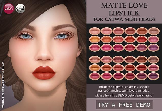 Catwa Matte Love Lipstick (TLC)