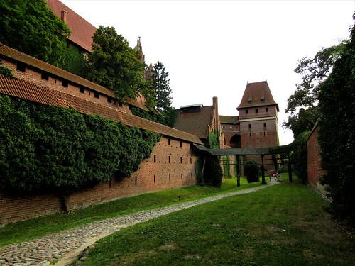 Castle in Malbork on the banks of the River Nogat