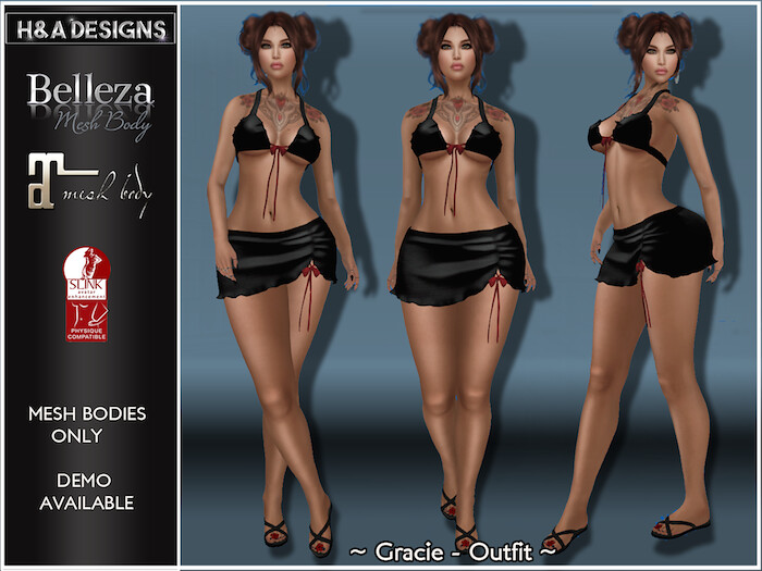 [H&A Designs]-Gracie Outfit Black