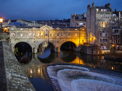 Pulteney Bridge and the weir, Bath