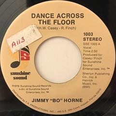 JIMMY BO HORNE:DANCE ACROSS THE FLOOR(LABEL SIDE-A)
