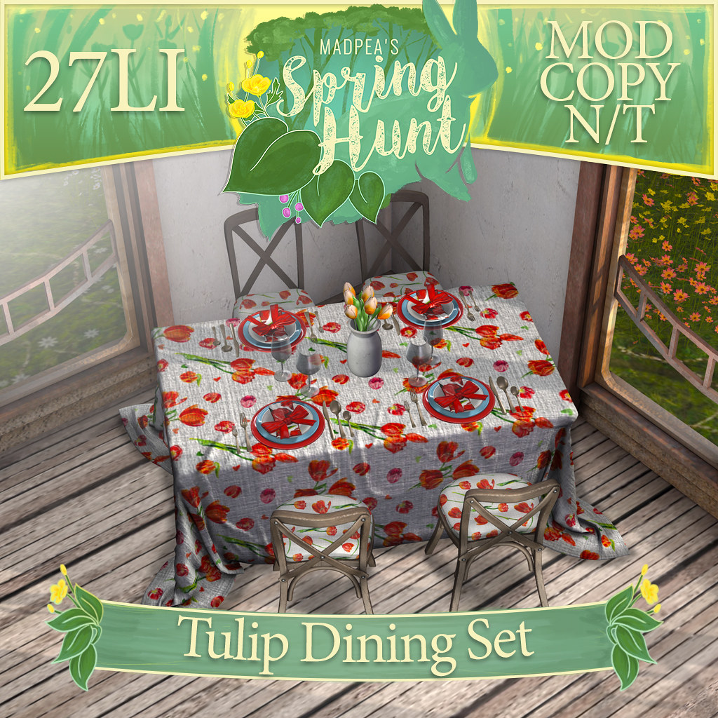 MadPea Spring Hunt –  MadPea Tulip Dining Set!