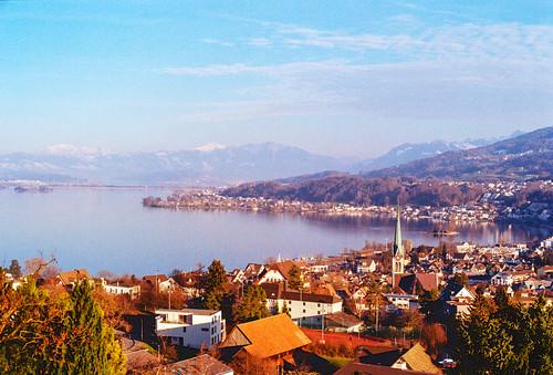 Richterswil and Lake Zurich