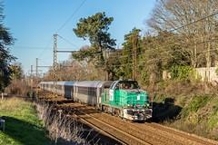 03 janvier 2019 BB 60052 Train 434682 Bordeaux-Hourcade -> Périgueux Vayres (33) - Photo of Saint-Germain-de-la-Rivière