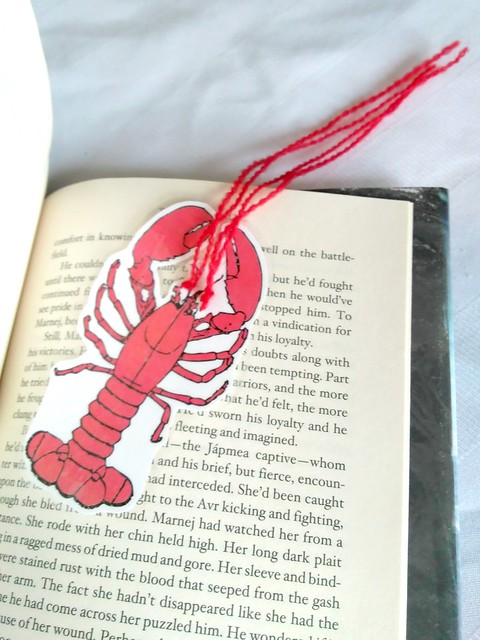 DIY Bookmark Lobster in Book