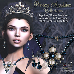 Zuri's Princess Arualblues Set PMesh-SapphireMocha Dia