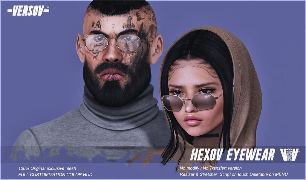 [ Versov // ] Hexov glasses available FaMESHed! (opens 12pm slt) - TeleportHub.com Live!
