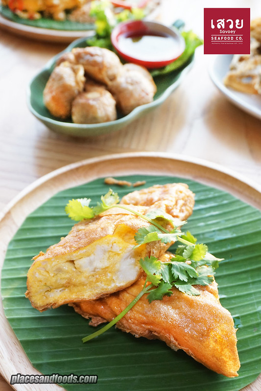 savoey jumbo crab meat omelette