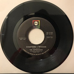 THE IMPRESSIONS:DON'T CRY MY LOVE(RECORD SIDE-B)