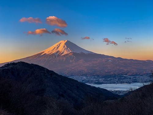 Spring Fuji at the sunrise