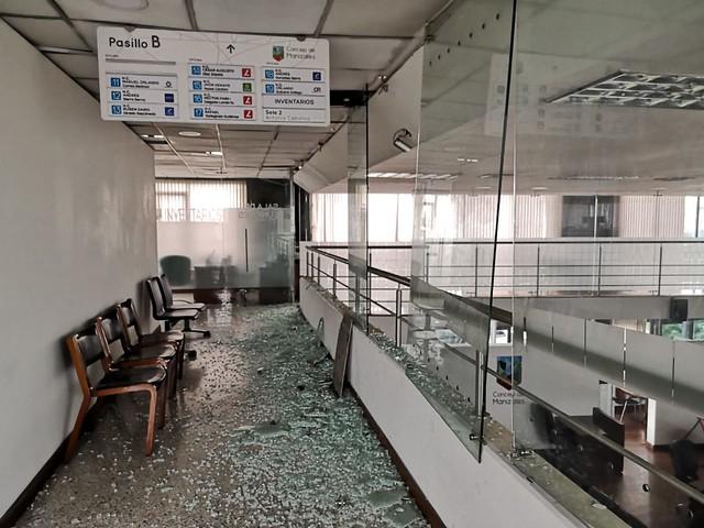 Daños en el Concejo de Manizales tras sismo de magnitud 6.0