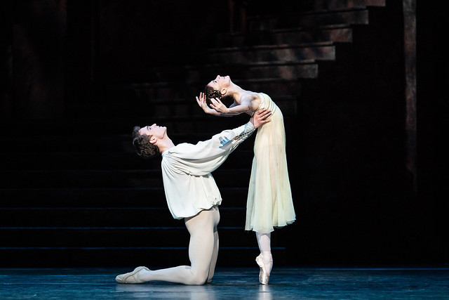 Matthew Ball as Romeo and Lauren Cuthbertson as Juliet in Romeo and Juliet, The Royal Ballet © 2019 ROH. Photograph by Helen Maybanks