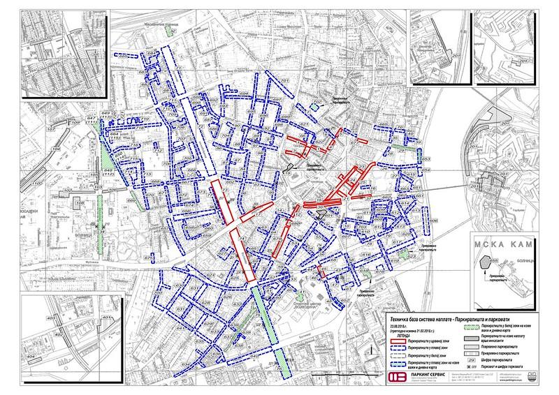 Карта парковок в Нови Саде