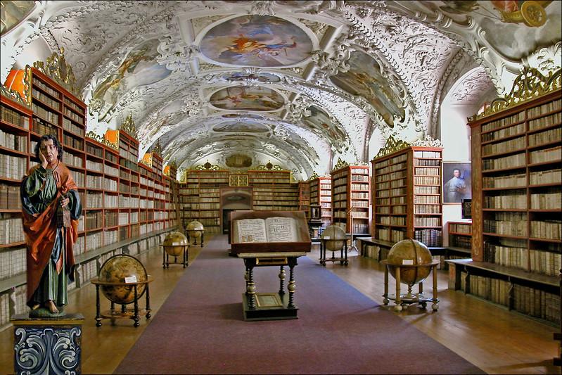 La salle de théologie du couvent de Strahov (Prague, Tchéquie)