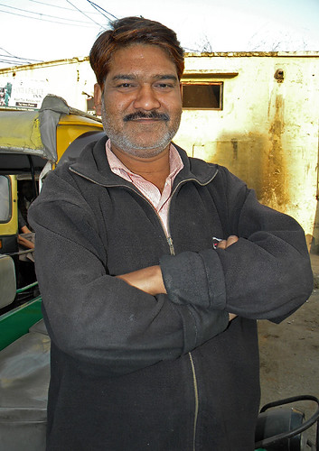 Our auto rickshaw driver in Agra, India