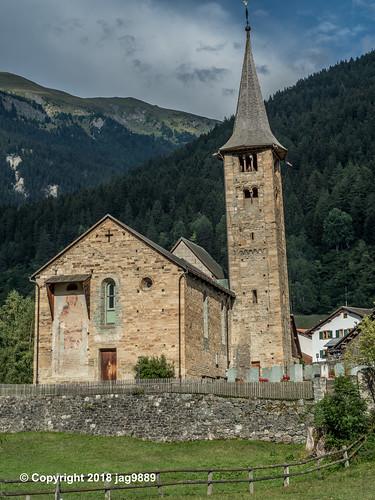 St Martin's Church, Zillis-Reischen, Canton of Graubünden, Switzerland