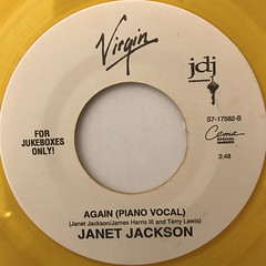 JANET JACKSON:AGAIN(LABEL SIDE-B)