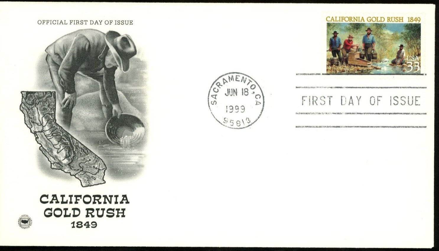 United States - Scott #3316 (1999) first day cover