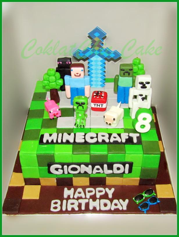 Cake Minecraft GIONALDI 20 cm