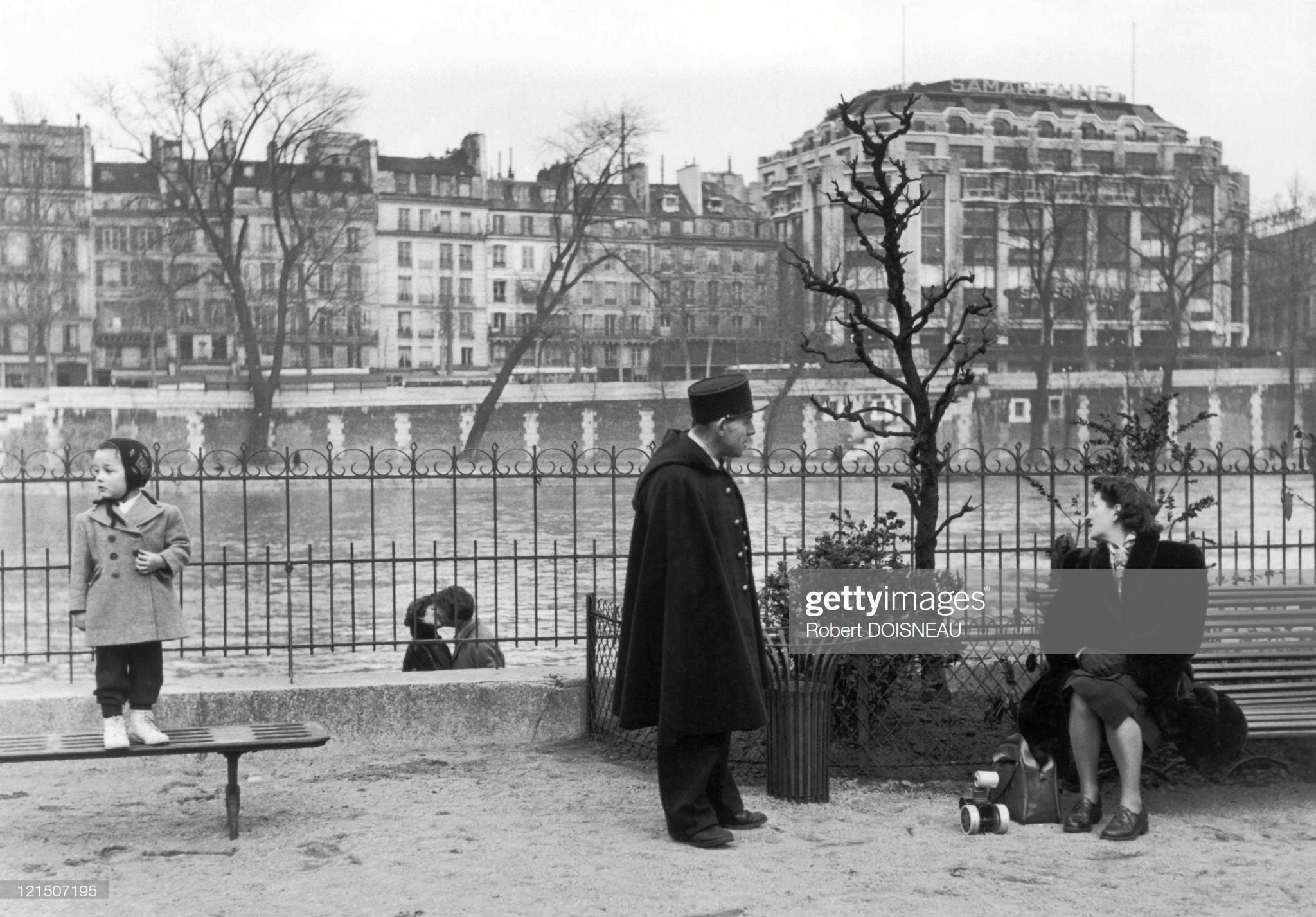 1950. Общественный сад Верт-Галант в Париже