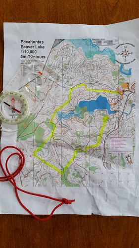 2019 1st Day Orienteering Meet at Pocahontas State Park hosted by CVOC