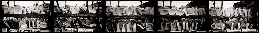 Many sinks pentaptych