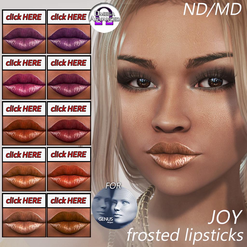 ND/MD JOY frosted lipsticks
