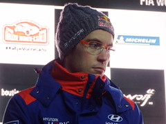 Thierry Neuville on Friday evening at Monte-Carlo Rally